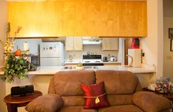 Meadowrock Apartments living area and kitchen