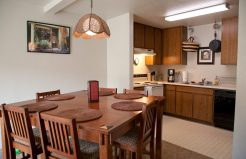 Meadowrock Duplex dining area and kitchen