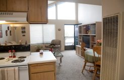 Edgewood Apartments living area and kitchen