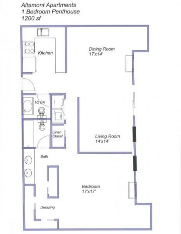 Altamont Apartments Penthouse floor plan